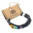Großhandel Schmuck & Uhren: Magnetisches Edelsteinarmband - Black Stone Chakra