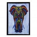 nagyker Faltetoválás: Kézzel csiszolt pamut fali művészet - elefánt