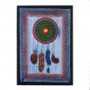 nagyker Faltetoválás: Kézzel csiszolt pamut fali art -Színes párna