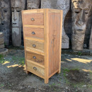 wholesale DVD & TV & Accessories: Tall set of 5 Draws - Recycled Wood