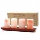 hurtownia Dom & Kuchnia: Zestaw 4 kieliszków do soli himalajskiej i ...