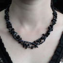 wholesale Beads & Charms: Chipstone & Bead Necklace - Black Agate