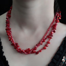 wholesale Beads & Charms: Chipstone & Bead Necklace - Red Coral