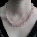 wholesale Beads & Charms: Chipstone & Bead Necklace - Rose Quartz