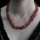 wholesale Beads & Charms: Chipstone & Bead Necklace - Red Agate