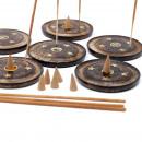 hurtownia Sport & czas wolny: Dysk z drewna mango 10 cm (stożek i kadzidło)