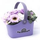 groothandel Woondecoratie: Bouquet Petite Basket - Zachte lavendel