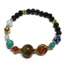 wholesale Jewelry & Watches: Lava Stone Bracelet - Gold Solar System