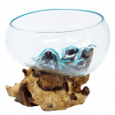 wholesale Consumer Electronics: Molten Glass on Wood - Open Lrg Bowl