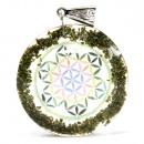 wholesale Beads & Charms: Orgonite Power Pendant - Greenstone Mandala