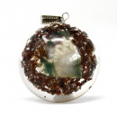 wholesale Beads & Charms: Orgonite Power Pendant - Power Block in Dome