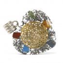 wholesale Pendant: Orgonite Power Pendant - 7 Stone Chakra Heart
