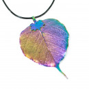 wholesale Jewelry & Watches: Lotus Leaf Rainbow Necklace