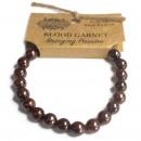 wholesale Bracelets: Power Bracelet - Blood Garnet