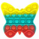groothandel Wellness & massage: Push Pop - Pop it - vlinder veelkleurig - 3 st