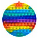 Push Pop XL - Pop it - Rund Rainbow - 3 Stück