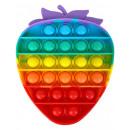 Großhandel Spielwaren: Push Pop - Pop it Spielzeug - Erdbeer Mehrfabig -
