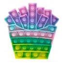 Großhandel Spielwaren: Push Pop - Pop it Spielzeug - Mehrfabig - 3 Stück