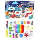 wholesale Decoration: Push pop set fidget Box advent calendar - 25 piece