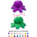 wholesale Toys: 2 in 1 reversible octopus plush toy soft toy doubl