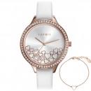 Großhandel Schmuck & Uhren: Esprit Uhr ES109592005 Geschenk Set Armband