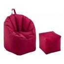 Beanbag set outdoor with stool Bamba ø 60 H 80 cm