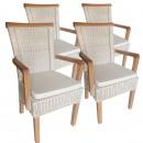 Juego de sillas de comedor con reposabrazos 4 piez