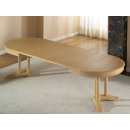 Dining table oval 160 x 110 cm Allegro with insert