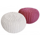 wholesale Small Furniture: Pouf Stool SET 2 pieces Rough-knit-Opti