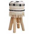 mayorista Casa y decoración: Taburete de bar Tresenhocker Landhaus lana blanco