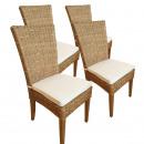 groothandel Tuinmeubelen: Rotan stoel set Cardine, 4 stuks met / zonder Sitz