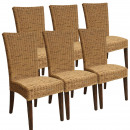 wholesale Garden Furniture: Dining Chairs Rattan chairs Set Cardine 6 pieces