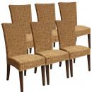 groothandel Tuinmeubelen: Eetkamerstoelen Rotan stoelen Set Cardine 6 stuks