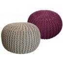 Pouf Stool SET 2 pieces Chunky-knit-Opti