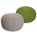Pouf Stool SET 2 pieces Rough-knit-Opti
