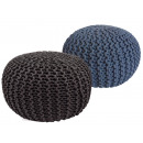 Pouf Stool SET 2 pieces Rough-knit-Opti