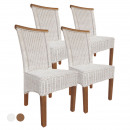 Dining room chairs set Rattan chairs Perth 4 piece