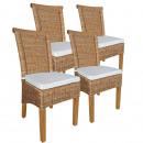 Zestaw krzeseł do jadalni krzesła rattanowe Perth