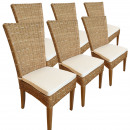 wholesale Garden Furniture: Rattanning chair SET Cardine 6 piece dining chair