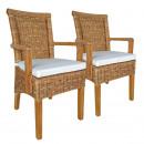 Zestaw krzeseł do jadalni z podłokietnikami 2 sztu
