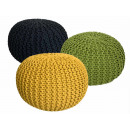 wholesale Small Furniture: Pouf Stool SET 3 pieces Chunky knit-Opti
