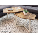 Coffee table set 2 pieces living room table nestin