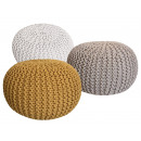 Pouf Stool SET 3 pieces Chunky knit-Opti