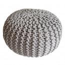 Knit stool pouf pouf pouf coarse knit opt