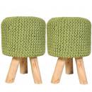 Sitzhocker 2er Knitted Upholstered Stool Pouf Sche