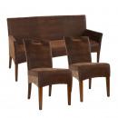 Sitzbank und 2 Rattan-Stühle-SET Bilbao vollgepols