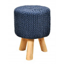 Stool knit upholstered stool pouf stool with