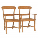 Dining Chairs SET with armrests Tanja 2 pieces w