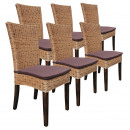 Rattanning chair SET Cardine 6 piece dining chair
