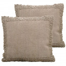 wholesale Cushions & Blankets: Deco Pillows set, 2 pieces cotton chenille with In